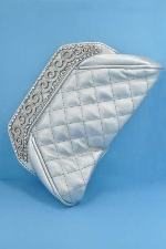 Clear/Silver Top Wave Shape Purse