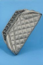 Clear/Gray Top Wave Purse