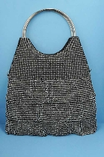 Clear/Black Dancing Rows Purse