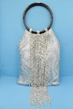Clear/Silver Dancing Row Top Round Purse