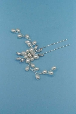 Pearl/Clear Branch Shape Bobby Pin