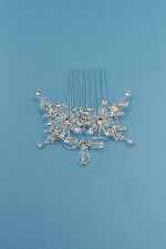 Clear/Silver Top Flower Shape Combs