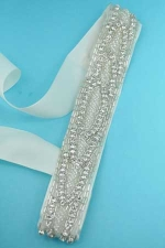Clear Ivory Marquise Shape Multiple Stone Belt