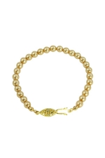 6MM Gold Pearl Bracelet w/Gold Clasp
