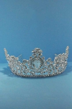 Clear/Silver Big Stones Queen Tiara