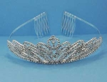 Clear/Silver Small Multiple Round Stone Tiara