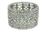 AB Silver Thick Classic Style Stretch Bracelet