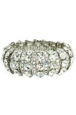 Ab/Clear/Silver Half Dome Stretch Bracelet