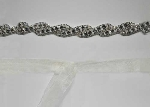 Clear/Silver Braid Shape Belt