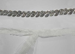 Clear/Silver Leaf Shape Belt