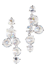 Cubic Zirconia/Silver Multi-Round Stone Earring