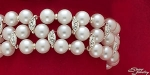 Pearl And Pave Crystal Stretch Bracelet