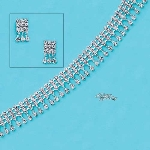 Crystal 3 Row Dangles Choker Set