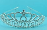 Clear/Silver Birthday Girl Crown Tiara