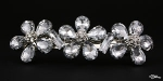 3 Flower Crystal Barrette