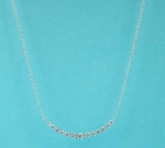 Clear/Silver One Row Small Round Stone