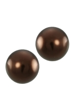 14MM Copper Pearl Stud Earring