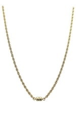"""18"""" Gold Magnetic Rope Chain Necklace"""