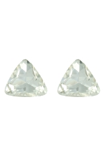 Clear Gold Large Triangle Stone Post Earring