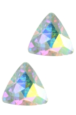 AB Gold Large Triangle Stone Post Earring