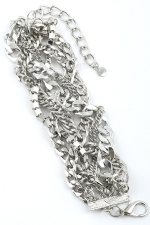 Silver Large Braided Clasp Bracelet