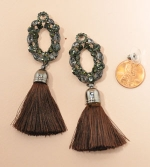 Brown Tassle Earring