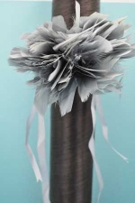 Grey/ Feather Corsage For Clothing And Interior Decoration