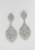 Clear/Silver Multiple Round Stone Earring