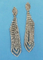 """Clear/Gold Small Round Stone Post Earring 3"""""""