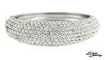 Clear/Silver Pave Front Bangle Bracelet