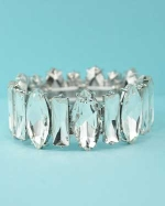 Clear Silver Marquise/Baguette Stone Bracelet