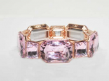 Rose/Rose Gold One Row Oval/Square Stretch Bracelet