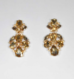 "Light Colorado/Gold Multiple Stones 1.5"" Post Earrings"