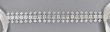 Clear/Silver Small Round Stone Belt