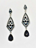 Montana Navy/Silver Statement Crystal Post Earring