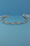 Pearl/Clear Rose Gold Leaves Shape Headband