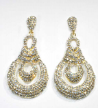 Clear/Gold Small Round Stone Post Earring