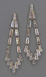 Cubic Zirconia/Gold Marquise Stone Shape Post Earring