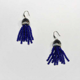 Sapphire/Silver Fashion Multiple Rows Fish Hook Earrings