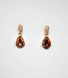 Light Peach/Gold Top Oval Bottom Teardrop Post Earring