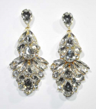 "Clear/Gold Multiple Stone Shape 3"" Post Earring"