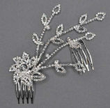 Clear/Silver Branch Shape Hair Comb