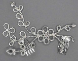 Clear/Silver Flowers Branch Shape Comb