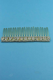 Clear/Gold One Row Medium/Small Round Stone Combs