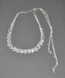 Clear/Silver Round Stone Choker Backdrop