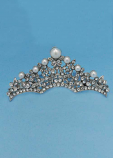 Pearl/Clear Silver Casting Hair Comb