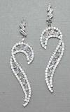 Cubic Zirconia/Silver Small Stone Post Earring