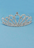 Clear/Silver Small Rhinestone Crown