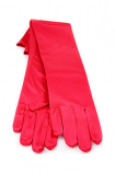 "Satin Gloves 12"" Red"