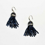 Montana Navy/Silver Fashion Multiple Rows Fish Hook Earrings
